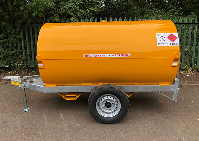 950L Fuel Bowser Twin Axle
