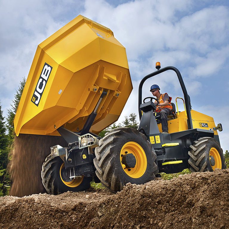 6T Four Wheel Drive Swivel Skip Dumper