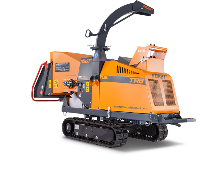 "8"" Tracked Wood Chipper"