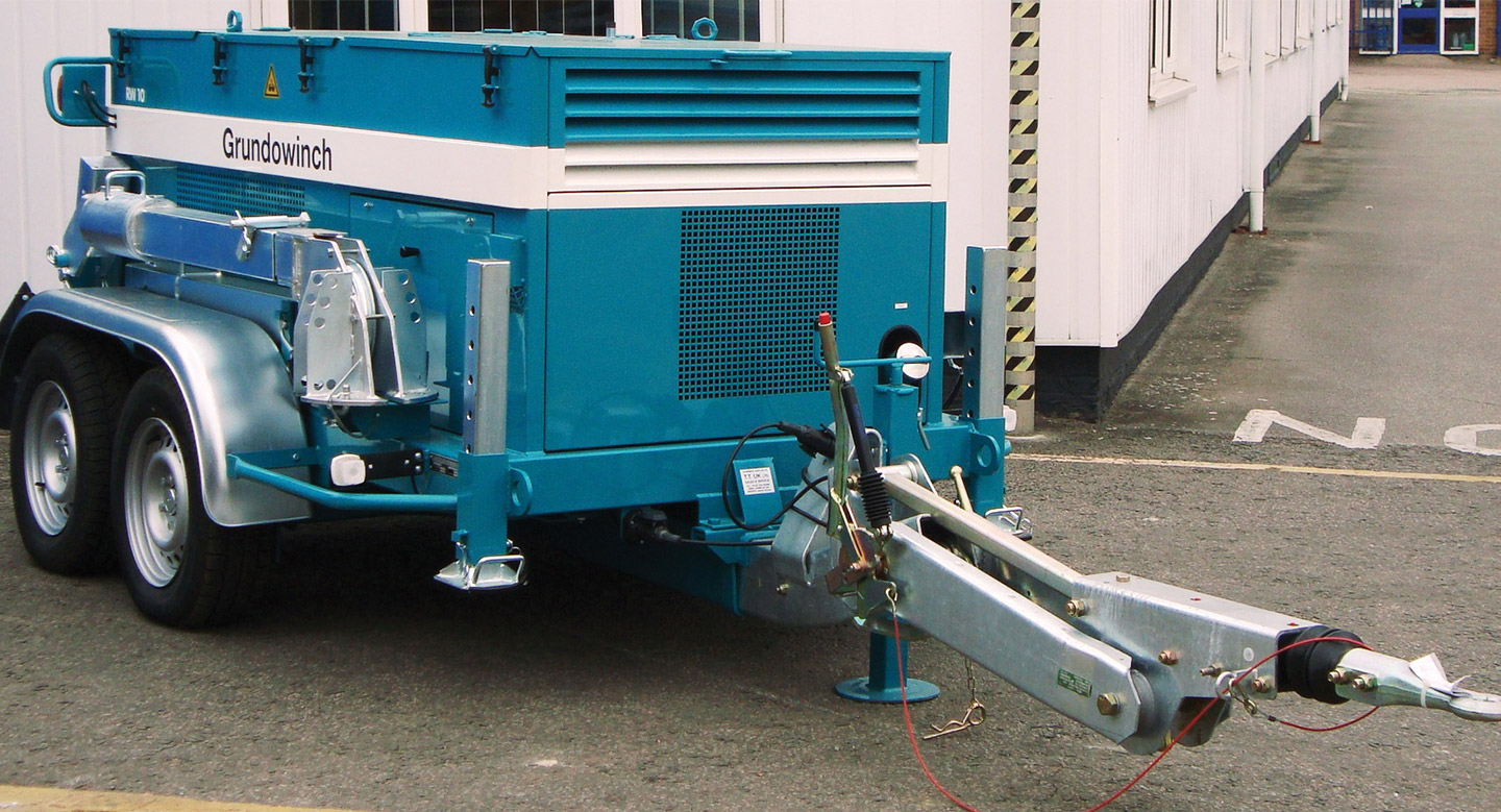 10T Cable Winch Diesel Upto 1000M Bond