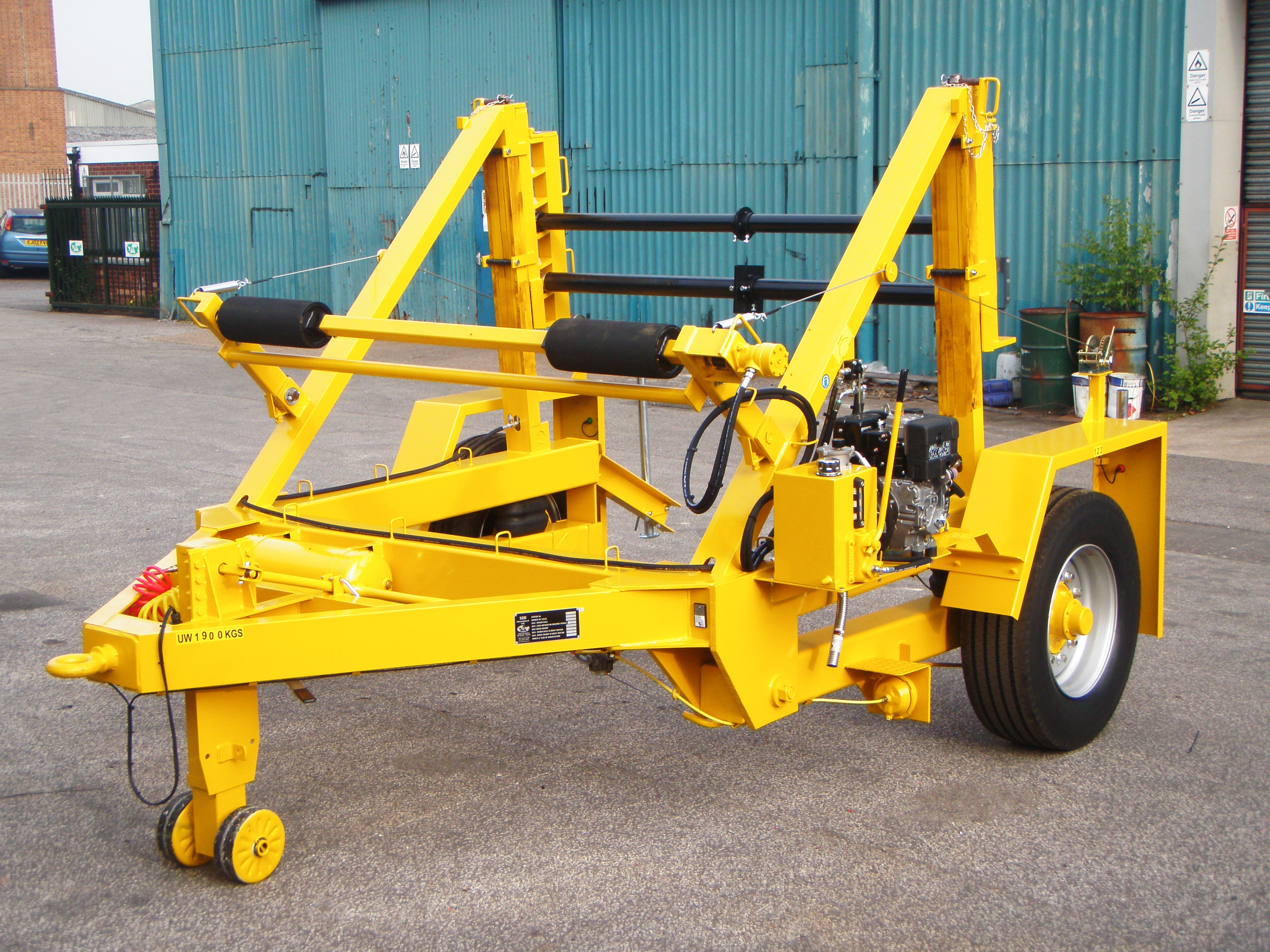 10T Cable Drum Trailer