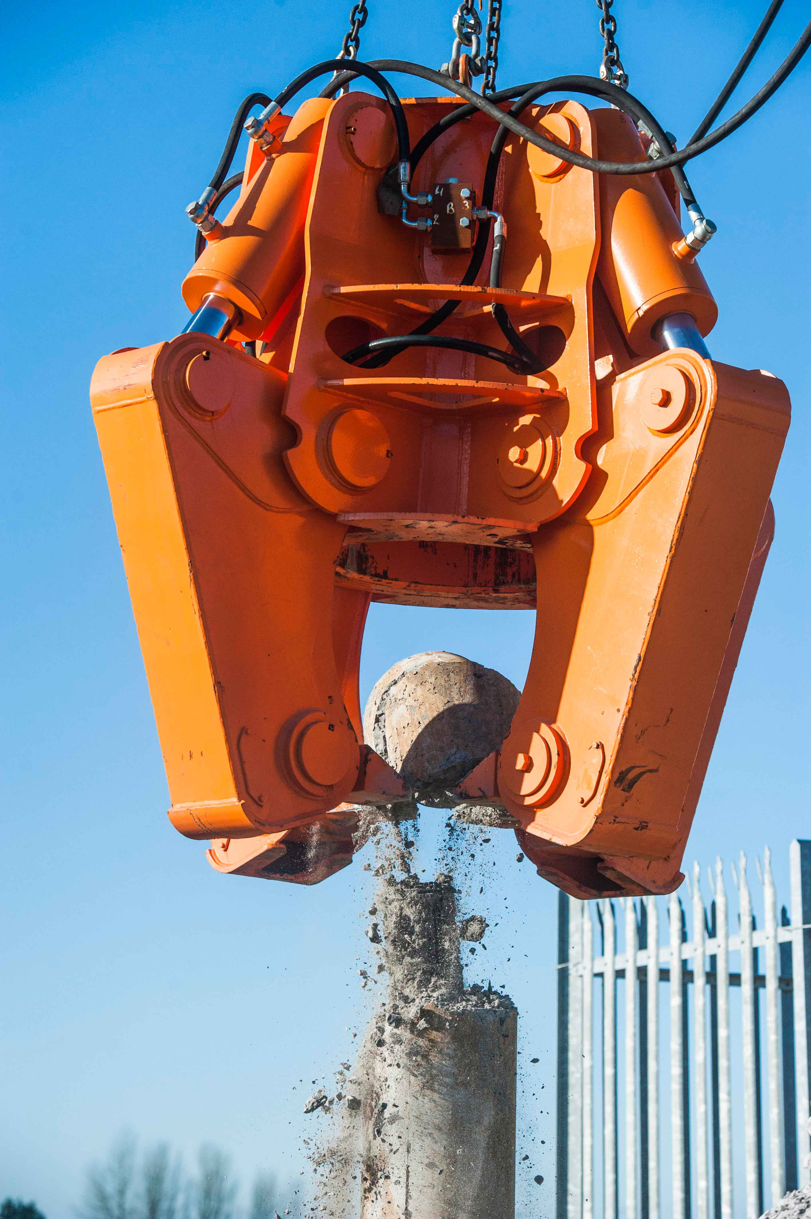 Pile Cropper - 4 Jaw LITE 300-600mm Piles